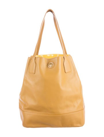 Tory Burch Pebbled Leather Tote None