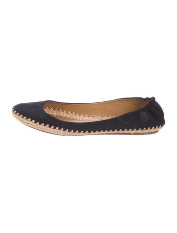 Tory Burch Suede Espadrille Flats None