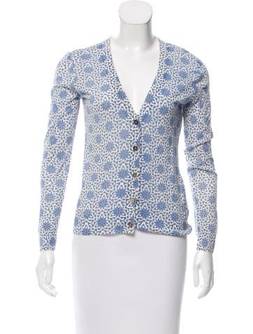 Tory Burch Printed Button-Up Cardigan None