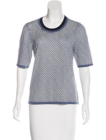 Tory Burch Wool Short Sleeve Top None