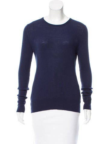 Tory Burch Rib Knit Wool Sweater None