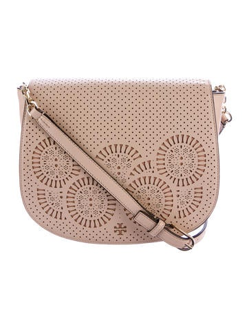 Tory Burch Zoey Leather Saddle Bag None