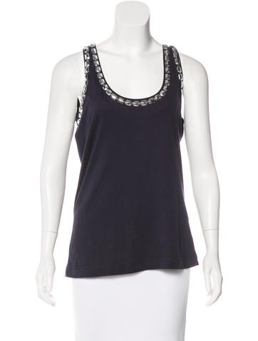 Tory Burch Sleeveless Embellished Top None