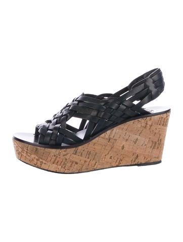 Tory Burch Woven Platform Wedge Sandals None