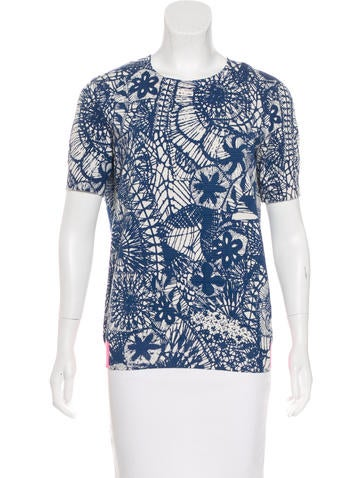 Tory Burch Printed Short Sleeve Top None