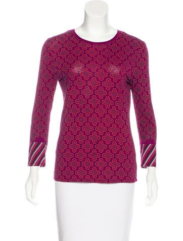 Tory Burch Printed Long Sleeve Top None