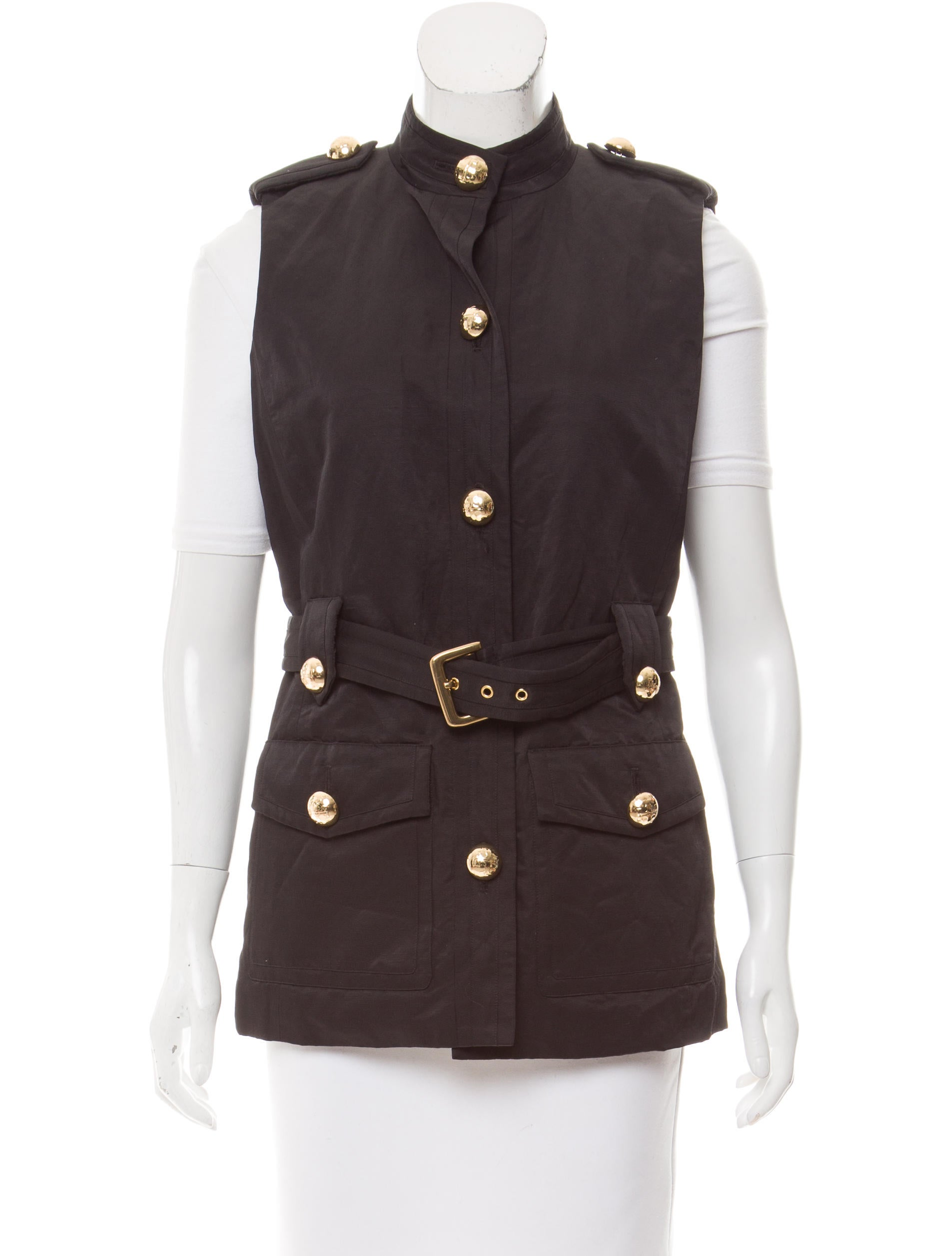 Tory Burch Casual Button Up Vest Clothing Wto109236