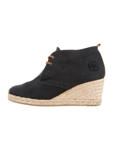 Tory Burch Espadrille Wedge Booties None