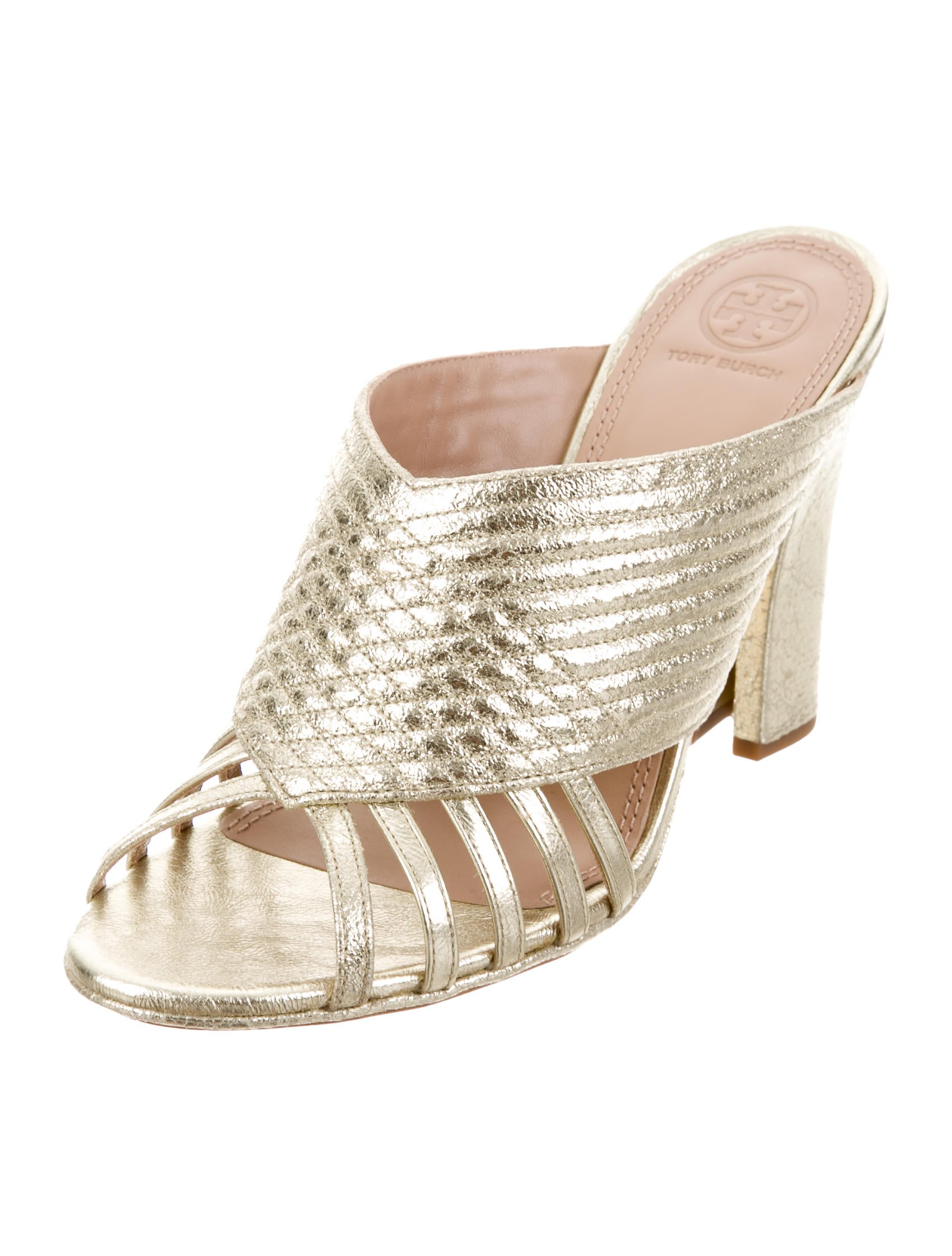 Tory Burch Brida Metallic Sandals w/ Tags visit new cheap sale low cost best for sale wmrAg