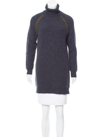 Tory Burch Embellished Wool Sweater None