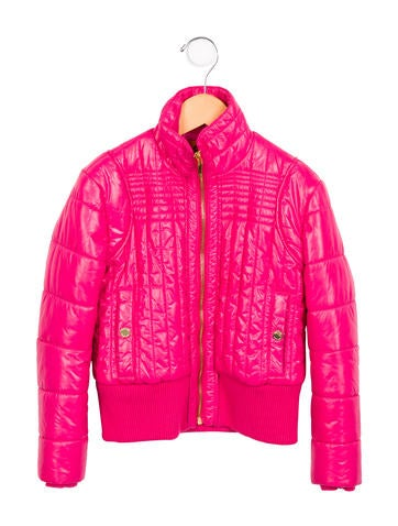 Tory Burch Girls' Quilted Bomber Jacket None