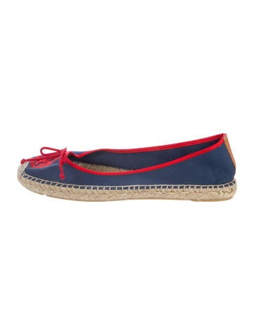 Tory Burch Logo-Accented Espadrille Flats None