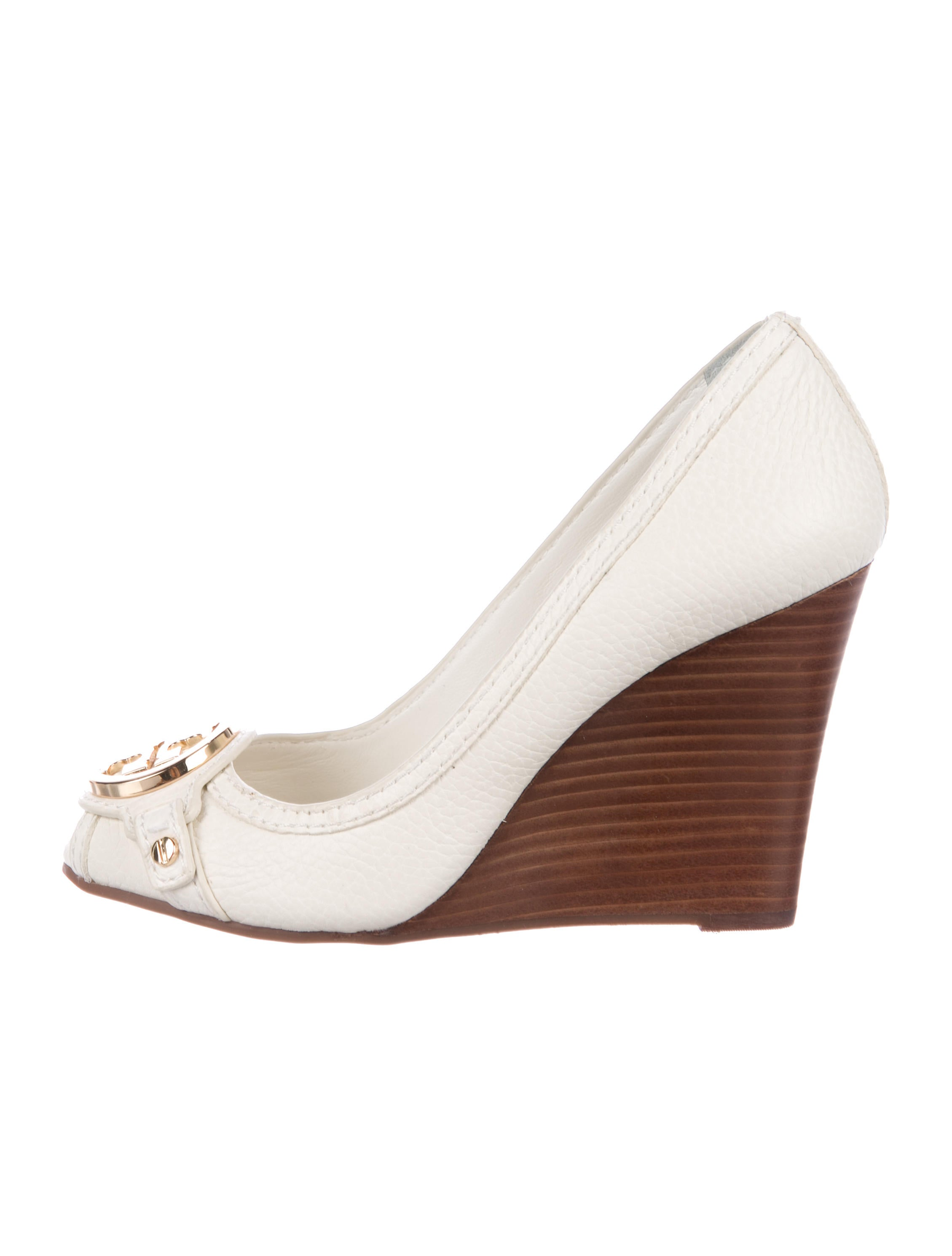 66d28f4ed99 Tory Burch Leticia Peep-Toe Wedge Pumps w  Tags - Shoes - WTO110267 ...