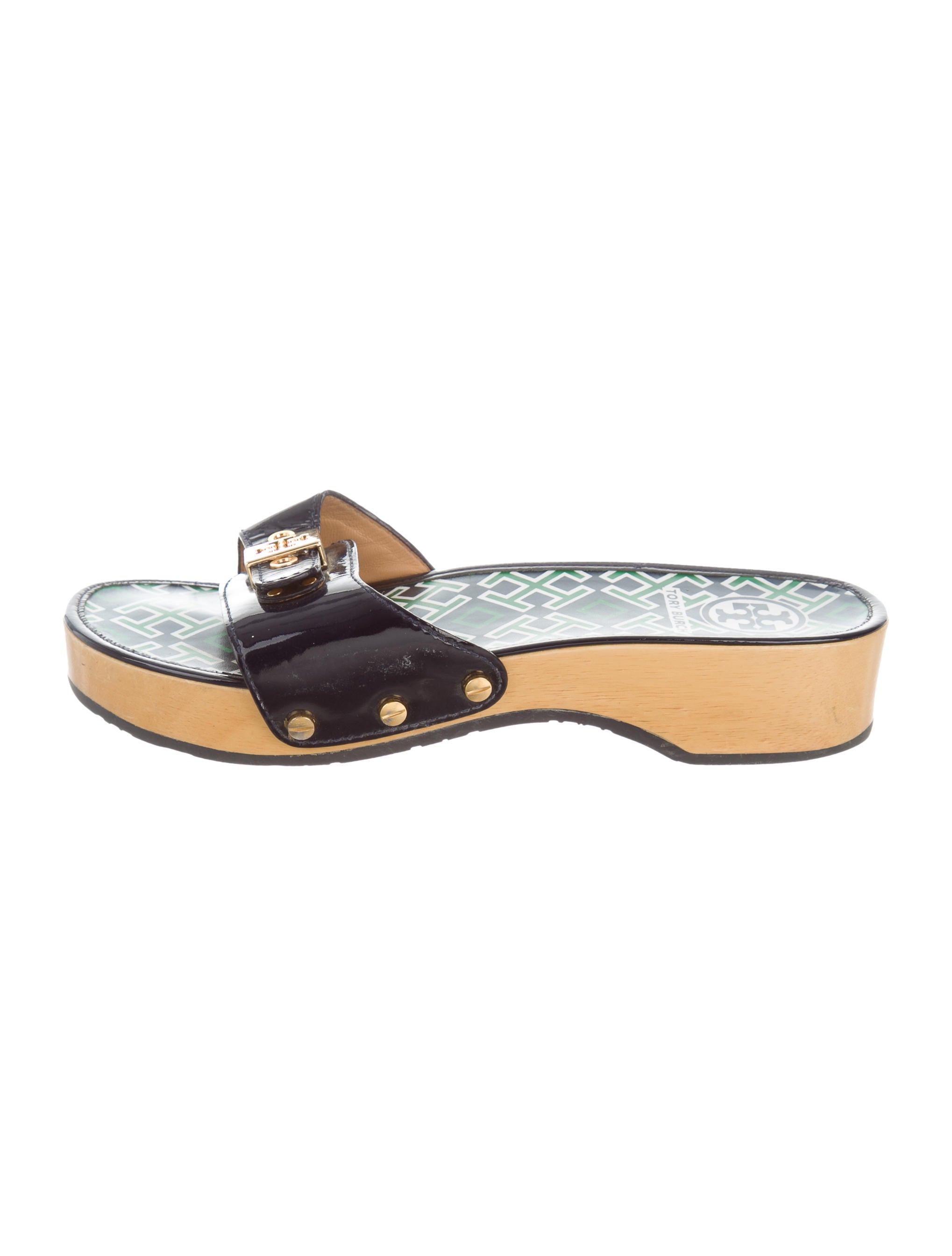Tory Burch Logo Slide Sandals Shoes Wto110297 The