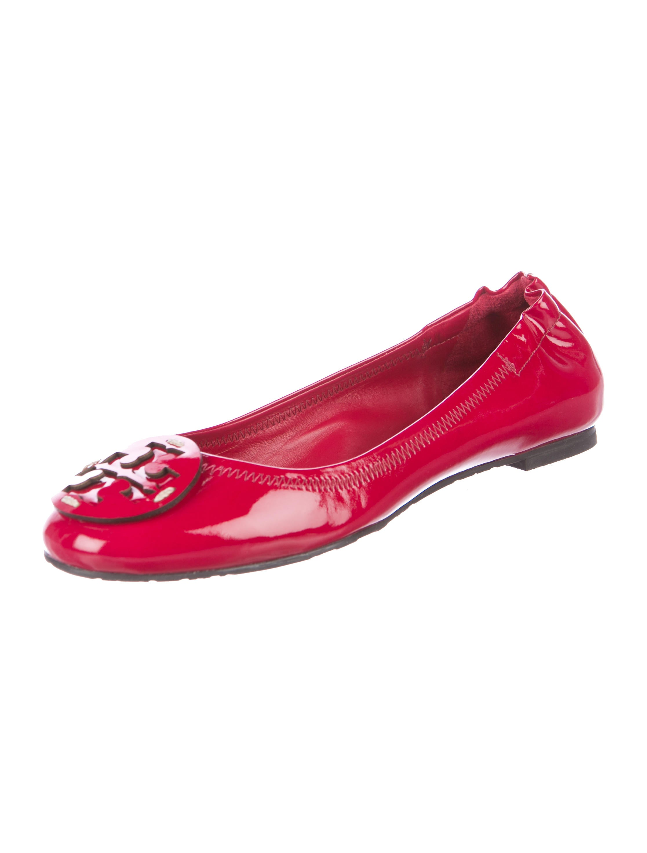 Tory Burch Patent Leather Reva Ballet Flat - Shoes ...