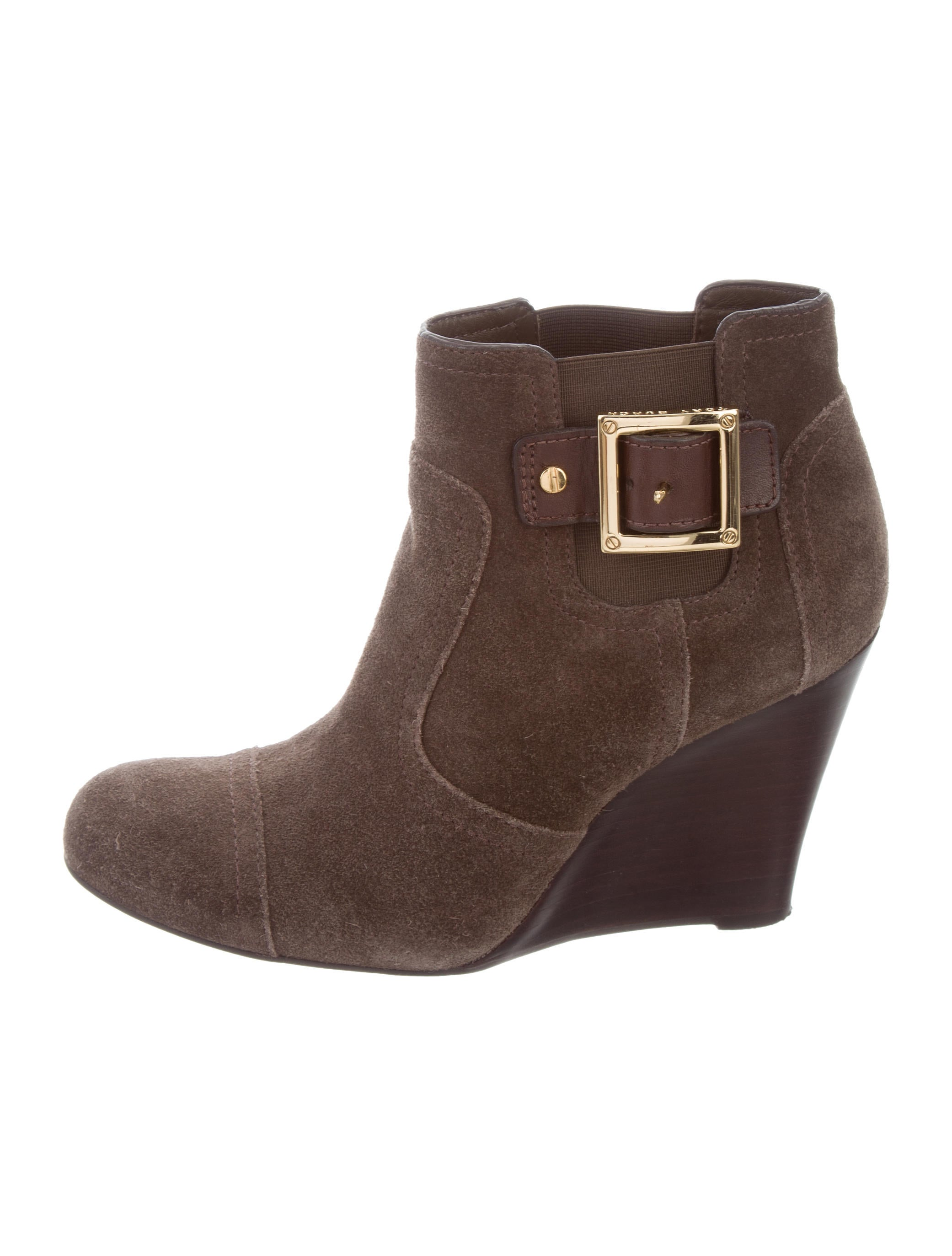 burch suede wedge ankle boots shoes wto110489