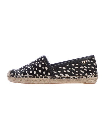 Tory Burch Ponyhair Round-Toe Espadrilles None