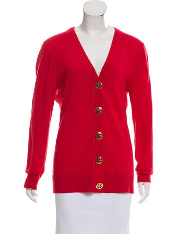Tory Burch Button-Up Wool Cardigan None