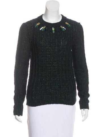 Tory Burch Lucy Embellished Sweater None
