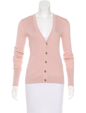 Tory Burch Long Sleeve Knit Cardigan None