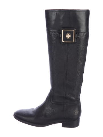 Tory Burch Leather Knee-High Boots None