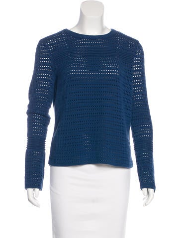 Tory Burch Patterned Knit Sweater None