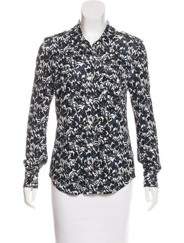 Tory Burch Jersey Button-Up Top None