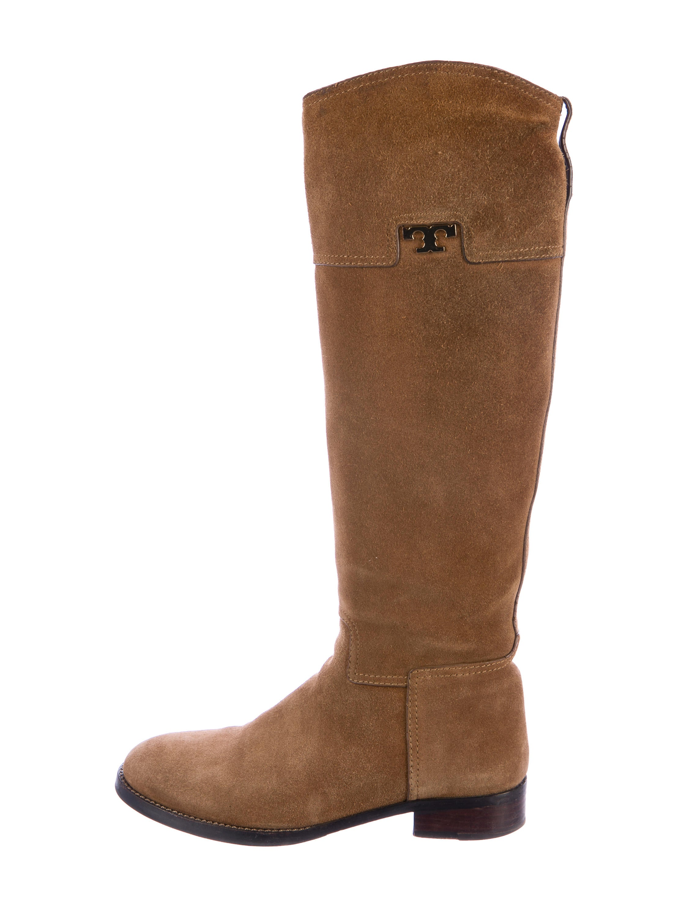 burch suede toe knee high boots shoes