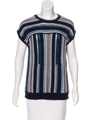 Tory Burch Sleeveless Knit Sweater None
