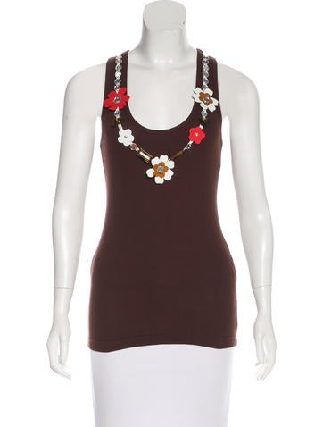 Tory Burch Sleeveless Embellished Top w/ Tags None