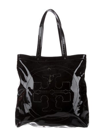 Tory Burch Perforated Patent Leather Tote None