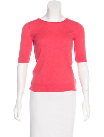 Tory Burch Cashmere Short Sleeve Top None