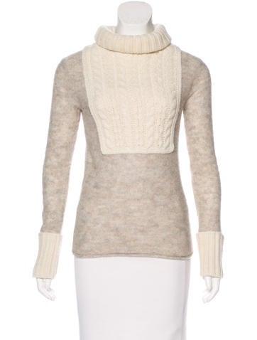 Tory Burch Long Sleeve Turtleneck Sweater None