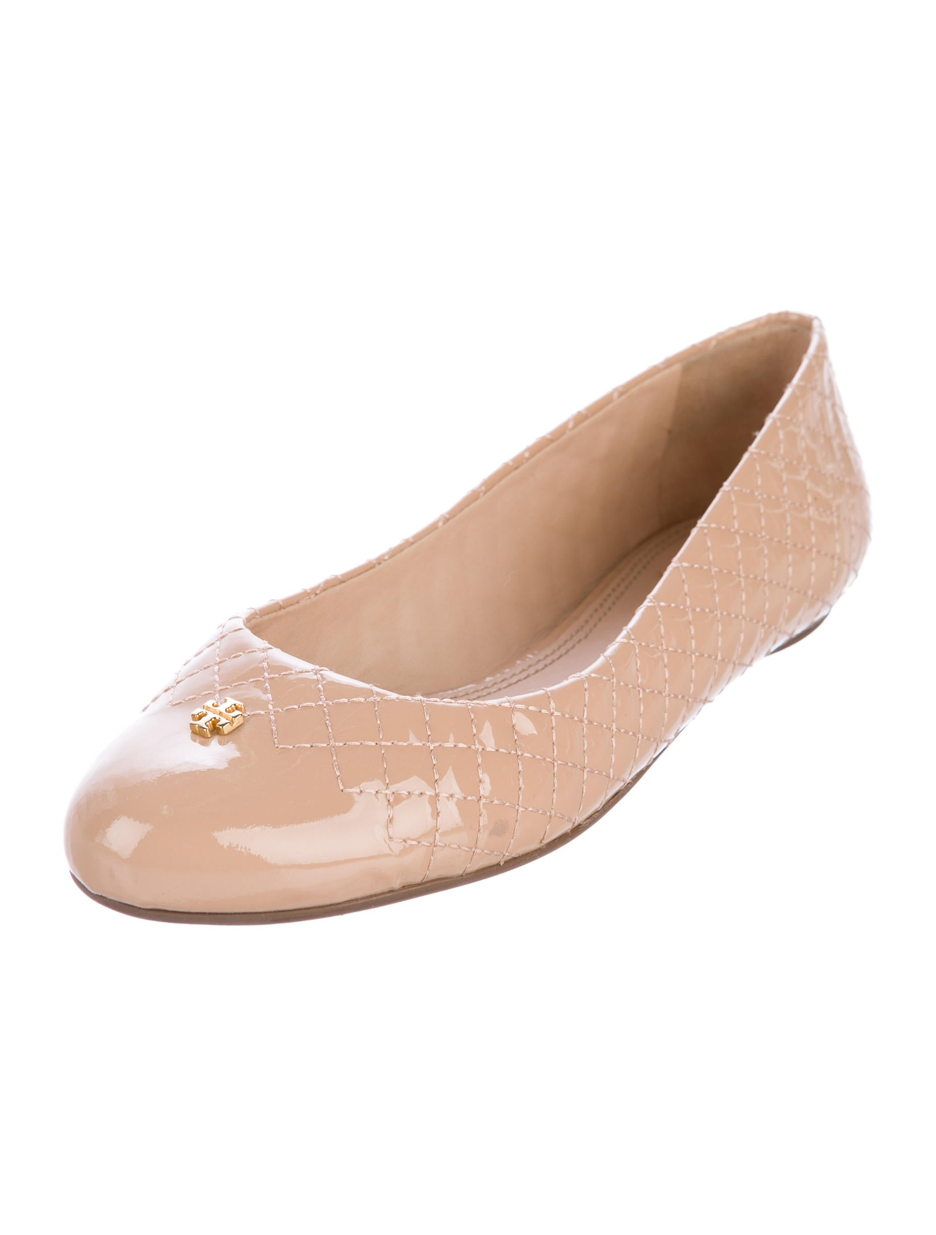 tory burch quilted ballet flats shoes wto113232 the realreal. Black Bedroom Furniture Sets. Home Design Ideas