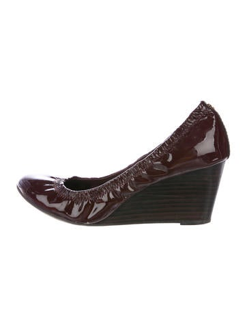 Tory Burch Eddie Patent Leather Wedges None