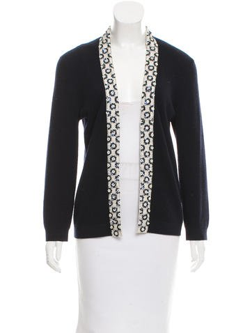 Tory Burch Embellished Wool Cardigan None