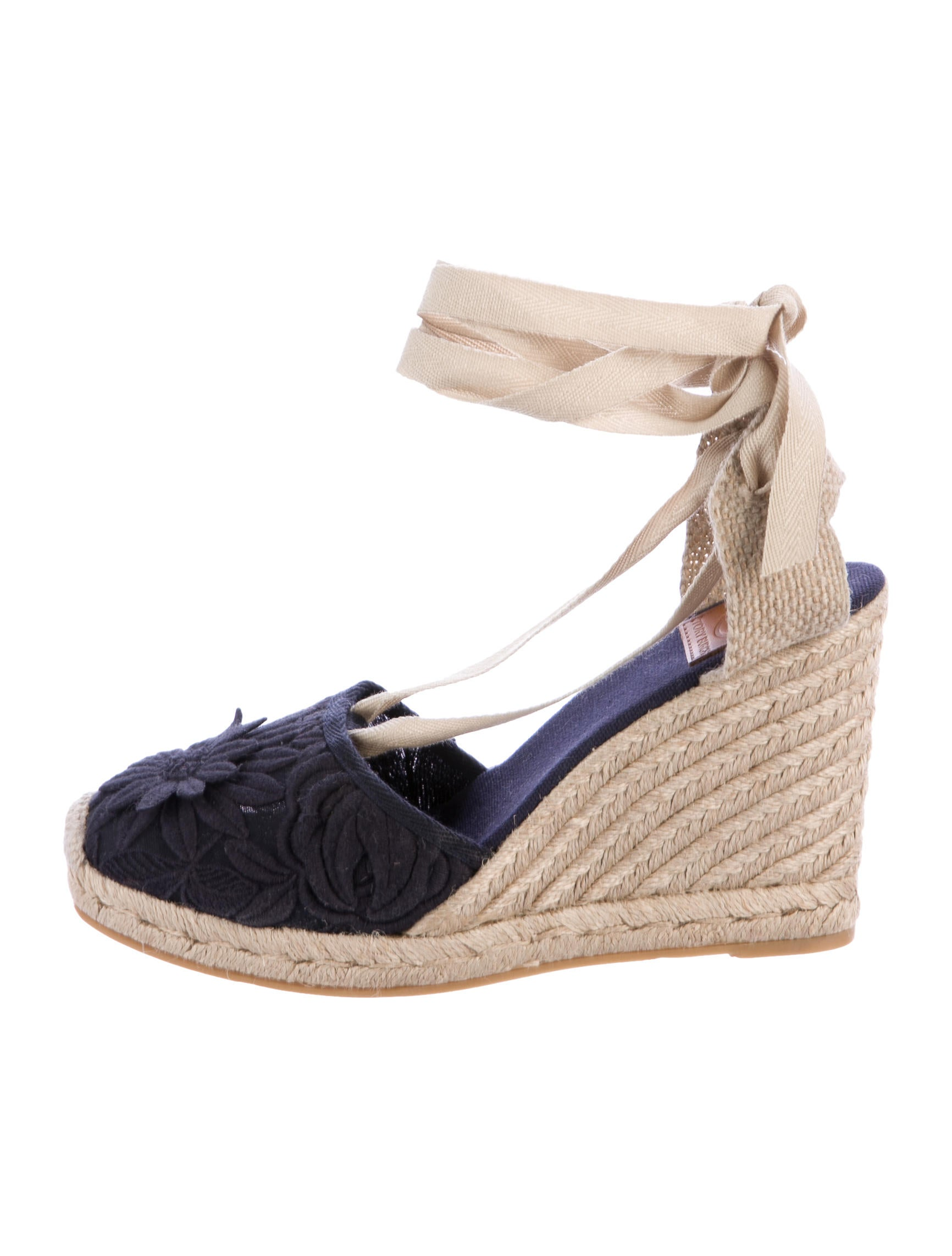 6e7d7a4639c29 Tory Burch Embroidered Espadrille Wedges - Shoes - WTO114024