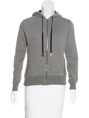 Tory Burch Hooded Zip Sweatshirt None
