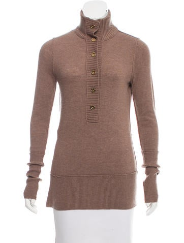 Tory Burch Wool-Blend Knit Sweater None