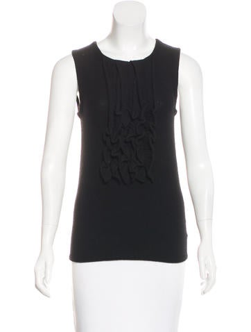 Tory Burch Cashmere Knit Sleeveless Top None