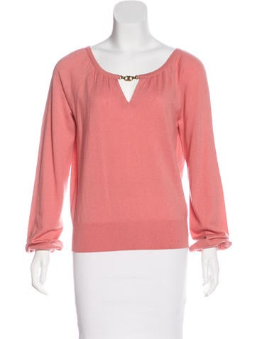 Tory Burch Cashmere Long Sleeve Sweater None