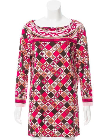 Tory Burch Printed Silk Top None