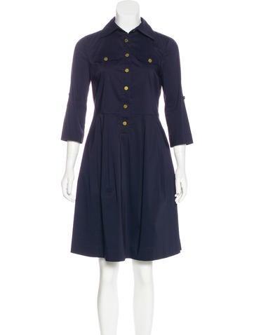 Tory Burch Button-Up Midi Dress None
