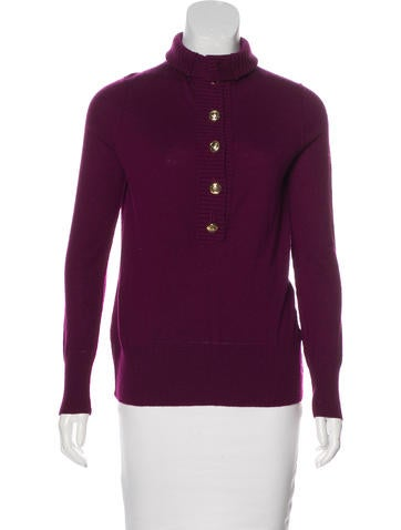 Tory Burch Wool Turtleneck Sweater None