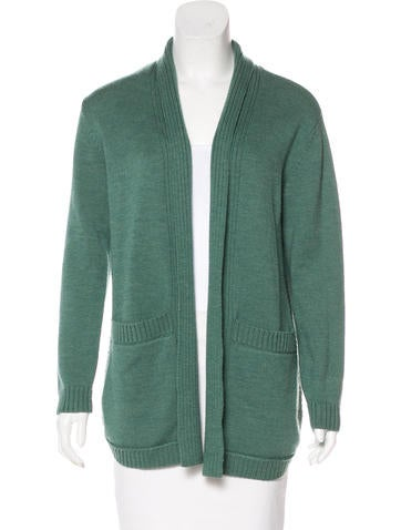 Tory Burch Wool Open-Front Cardigan None