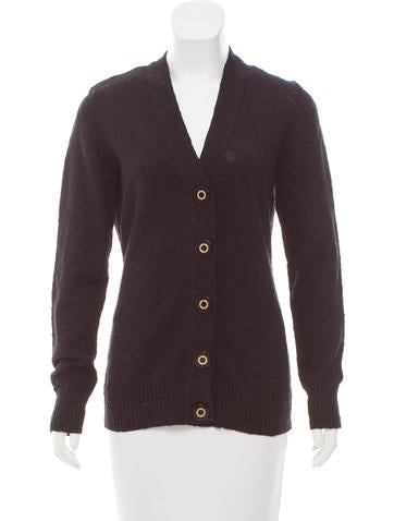 Tory Burch V-Neck Button-Up Cardigan None