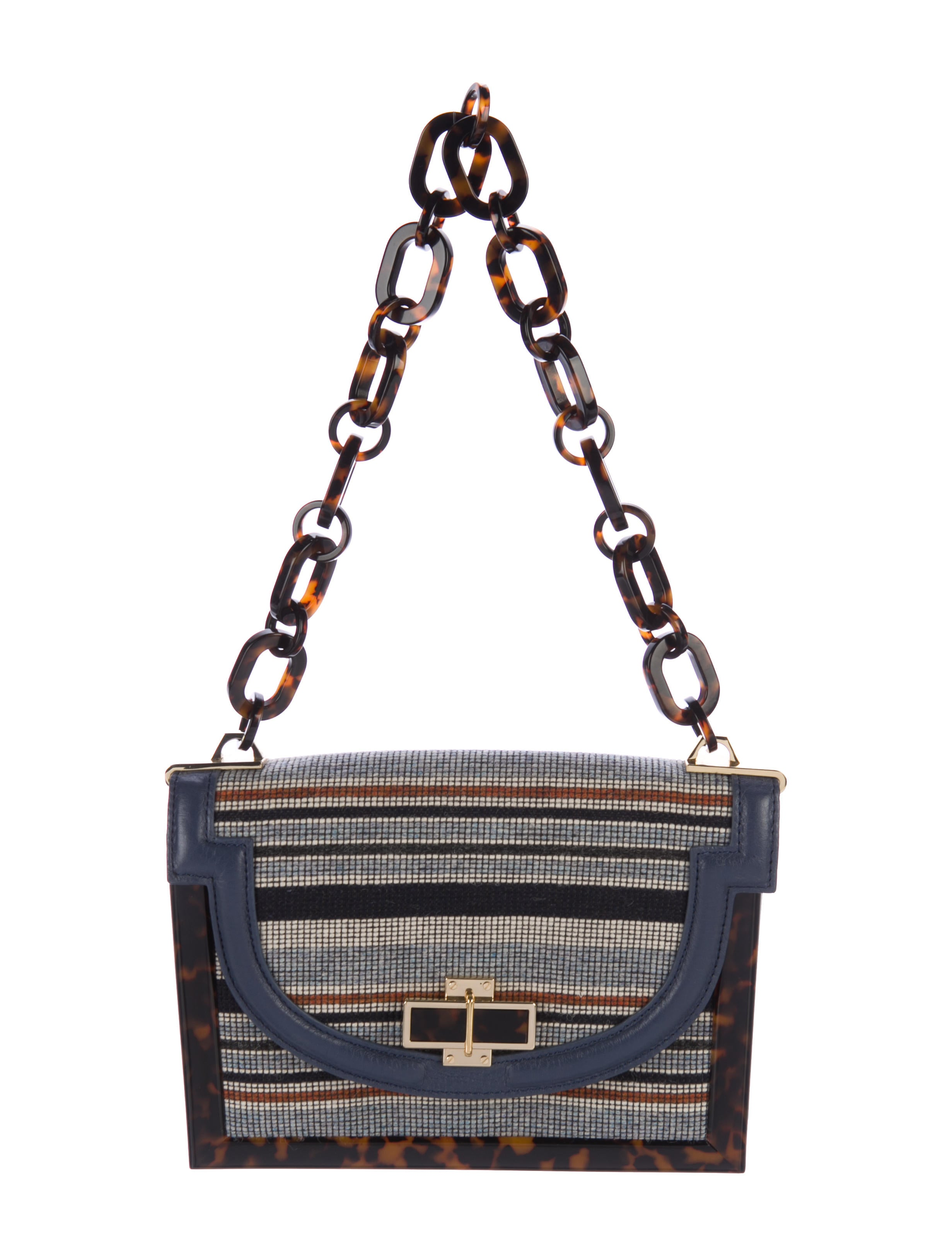 Tory Burch Needlepoint Small Resin Frame Bag - Handbags - WTO116998 ...