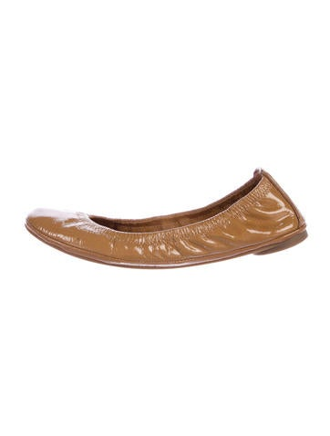 Tory Burch Patent Leather Round-Toe Flats None