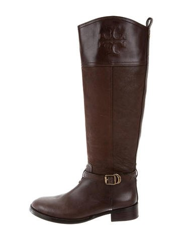 Tory Burch Leather Riding Boots None