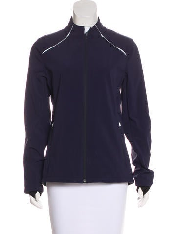 Tory Burch Athletic Zip-Up Jacket None